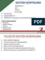 TALLER DE GESTION HOSPITALARIA