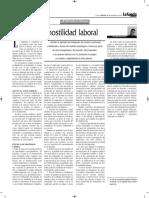 Actos de Hostilidad Laboral - Autor José María Pacori Cari