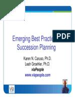 Best Practices in Succession Planning