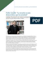 Gentili, articulo periodistico