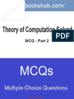 Theory Of Computation Solved MCQ Part 2 Book
