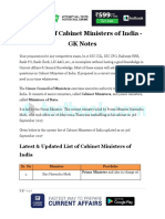 New-List-of-Cabinet-Ministers-of-India-GK-Notes