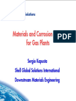 GAS PLANTS MATERIALS AND CORROSION