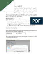 Output Management via BRF