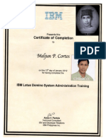 MELJUN CORTES IBM Training Certificate Lotus Domino