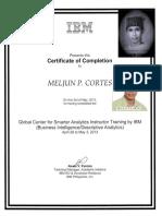 MELJUN CORTES IBM Training Certificate Descriptive Analytics