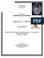MELJUN CORTES IBM Training Certificate Predictive Analytics