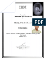 MELJUN CORTES IBM Training Certificate BIG DATA
