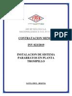 INV 023-2019 INSTALACION SISTEMA PARARRAYOS - TROMPILLO