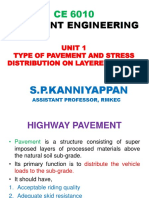 PE UNIT-1 PAVEMENT AND ITS TYPES