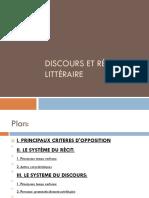 Discours & Récit littéraire