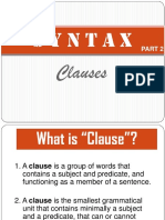 syntax clauses