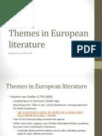 Themes in European literature