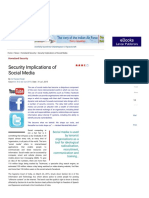 Security Implications of Social Media - Indian Defence Review