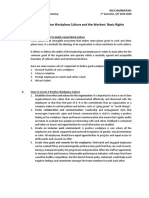 Handout on Positive Workplace Culture and Workers' Basic Rights