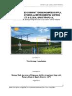 SOLAR-POWERED COMMUNITY DRINKING WATER SUPPLY