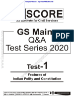 GS Score Mains 2020 Test 1 Questions by freeupscmaterials.org