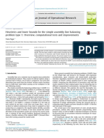 European Journal of Operational Research Volume 240 issue 1 2015 [doi 10.1016_j.ejor.2014.06.023] Pape, Tom -- Heuristics and lower bounds for the simple assembly line balancing problem type 1- Over