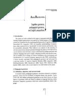 (print) Cognitive grammar pedagogical grammar and English prepositions