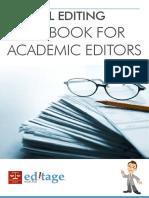 Ethical Editing Handbook For Academic Editors