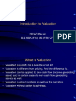 Introduction to Valuation (Session1)