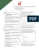Parcial Fundamentos Lenguajes de Programacion