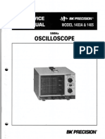 Bk-precision 1403a 1405 10mv 5mhz Oscilloscope 1985 Sm