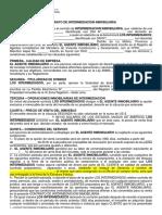 PLANTILLA CONTRATO INTERMEDIACION EXCLUSIVIDAD