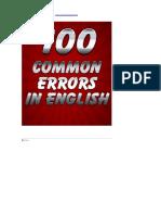 100 Common errors in english