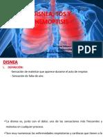 Disnea Tos y Hemoptisis