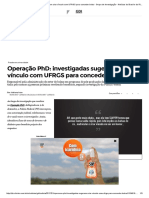 Operação PhD_ investigadas sugerem criar vínculo com UFRGS para conceder bolsa - Grupo de Investigação - Notícias do Brasil e do Rio Grande do Sul - Zero Hora