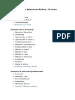 Programa de Desarrollo Web con Python