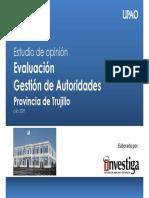Evaluación de la gestión autoridades en la provincia de Trujillo