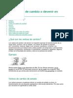 11 verbos de cambio o devenir en español