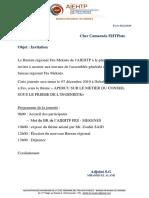 Invitation  AG - AIEHTP du 07 dec 2019