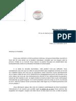 Lettre adressée à Emmanuel Macron