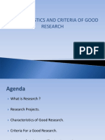 criteria of good research