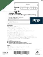June 2018 QP - Paper 1 Edexcel Biology (B) AS-level
