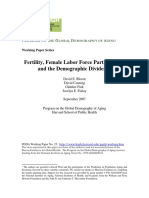 Fertility, Female Labor Force Participation, and Demographic Dividend