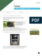 Equipo Panasonic® con error F61 _ Fallaselectronicas.com