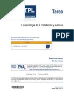TAREA EPISTEMOLOGIA DE LA CONTABILIDAD Y AUDITORIA