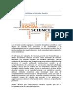 Definición de ciencias sociales