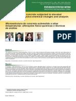 Microestrutura do concreto submetido a altas temperaturas - alterações físico-químicas e técnicas de análise