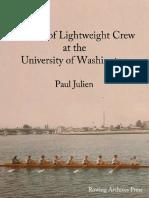 History of University of Washington Lightweight Rowing 1914-1987