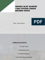 1. Pengetahuan Crane Secara Umum