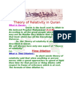 Theory of Relativity in Quran Assignment