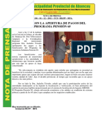 NOTA DE PRENSA Nº 196 PENSION 65 CORRECTO