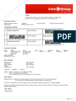 Lion Air eTicket (CUEWXU) - Sakmat - Agent Copy