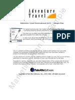 Adventure Travel Sample Marketing Plan