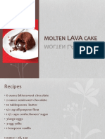 Molted lava cake